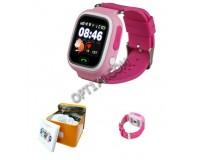 Часы Smart - GP-01 детские с GPS, кнопка SOS, тайное прослушивание микрофона родителями, просмотр маршрута, датчик снятия с руки, антипотеря, оповещения выхода из указанного района, розовые