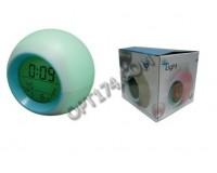 Часы Орбита Н133 настольные, 3 х AAA, 7 цветов, температура, дата, 9 х 9см