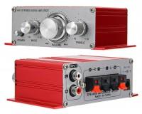 Усилитель звука - HY2001 2 х 20 Вт, материал корпуса: металл, размер: 12.5 х 7 х 4.2 см, пульт ДУ
