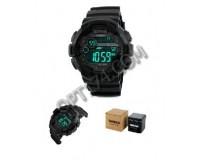 Часы наручные Skmei 1243 электронные (дата, будильник, секундомер, хронограф), пластик, подсветка
