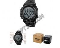 Часы наручные Skmei 1258 электронные (дата, будильник, секундомер), пластик, подсветка