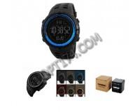 Часы наручные Skmei 1251 электронные (дата, будильник, секундомер), пластик, подсветка