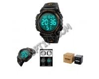 Часы наручные Skmei 1258-1 электронные (дата, будильник, секундомер), пластик, подсветка