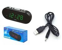 Часы сетевые VST 715-4 зеленые цифры, без блока питания