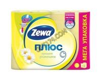 Бумага туалетная ZEWA Plus 144089 аромат ромашки спайка 12 шт., 2-х слойная (12х23 м) (126251)
