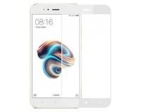 Защитное стекло Perfeo PF-4058 для Xiaomi 5X белый глянцевое, толщина 0.33мм, закругленные края 2.5D, твердость 9H, Full Screen Asahi