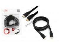 Кабель HDMI-HDMI Cablexpert 3.0м GOLD ver.1.4, плоский, экранирование, пакет, черный (CC-HDMI4F-10)