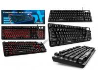 Клавиатура игровая Гарнизон GK-300G USB Black 104 клавиши (19 Anti-Ghost, 12 дополнительных) 3 варианта подсветки, тип клавиш: механизированный