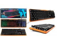 Клавиатура игровая Гарнизон GK-320G USB Black 104 клавиши (6 Anti-Ghost, 12 дополнительных) подсветка
