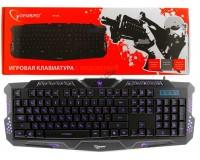 Клавиатура игровая Gembird KB-G11L USB Black 104 клавиши (19 Anti-Ghost, 10 дополнительных) 3 варианта регулируемой подсветки