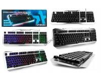 Клавиатура игровая Гарнизон GK-500G USB Black 104 клавиши (19 Anti-Ghost+12 дополнительных) подсветка