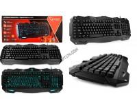 Клавиатура игровая Gembird KB-G200L USB Black 104 клавиши, 26 Anti-Ghost, 10 дополнительных 7 цветов подсветки клавиш и символов, регулировка яркости, G-клавиши для создания макросов