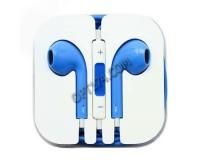 Наушники с микрофоном - S-07 вкладыши, кабель 1м, коробка, синие