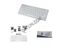 Клавиатура беспроводная - OT-PCM26 (BT-3) Bluetooth 3.0 Grey/White 78 клавиш