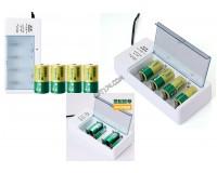 Зарядное устройство Delipow DLP-808 150 mA AA/AAA/6F22/C/D на 4 аккумулятора, светодиодный индикатор заряда, коробка