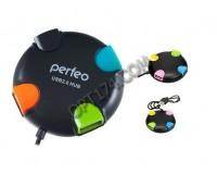 Концентратор USB (HUB) Perfeo PF-VI-H020 4 порта, Black