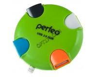Концентратор USB (HUB) Perfeo PF-4286/PF-VI-H020 4 порта, Green