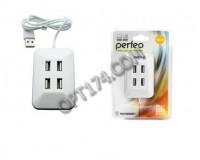 Концентратор USB (HUB) Perfeo PF-VI-H028 4 порта, White