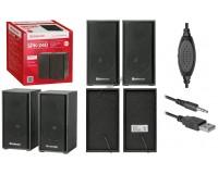 Акустические системы 2.0 Defender SPK 240 2х3Вт корпус МДФ, регулировка громкости, питание от USB, 5В, черный (65224)