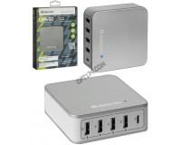 Зарядное устройство Defender UPA-50 8000 mA 4хUSB+TYPE-C, выходной ток: USB1-2А, USB 2-1А, USB 3-1А, USB 4-1А, TYPE С-3А, коробка