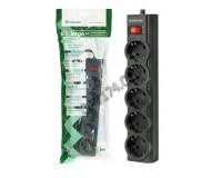 Сетевой фильтр Defender ES largo 5 розеток 3 м. автоматический несгораемый предохранитель встроенный в выключатель, черный (99498)