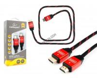Кабель HDMI-HDMI Cablexpert 1м серия GOLD ver.1.4, алюминиевые коннекторы, позолоченные разъемы, экранирование, коробка, черный (CC-G-HDMI02-1M)
