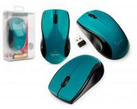Мышь беспроводная Gembird MUSW-320-B USB Optical (1000 dpi) синяя, 2 кнопки+кнопка-колесо батарейки в комплекте, блистер