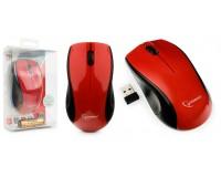 Мышь беспроводная Gembird MUSW-320-R USB Optical (1000 dpi) красная, 2 кнопки+кнопка-колесо батарейки в комплекте, блистер