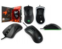Мышь игровая Gembird MG-550 USB Optical (600/800/1000/1200/1600/3200 dpi) черная, 6 кнопок+колесо-кнопка ПО для макросов, подсветка 6 цветов, кабель тканевый, код для игры