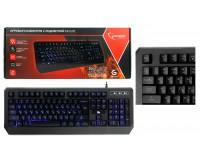 Клавиатура игровая Gembird KB-G20L USB Black 104 клавиши (19 Anti-Ghost+12 дополнительных) подсветка синяя