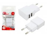 Зарядное устройство Cablexpert MP3A-PC-11 2100 mA 2хUSB, выходной ток: USB1-2.1А, USB2-1А, белое, 5В, пакет
