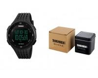 Часы наручные Skmei 1219 электронные (дата, будильник, секундомер), пластик, подсветка