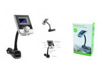 FM трансмиттер TDS N7 12В, USB/microSD/AUX, автомобильный, Bluetooth, пульт, коробка, цветной