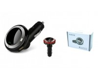 FM трансмиттер TDS Q9 12В, USB/microSD, автомобильный, Bluetooth, коробка, цветной