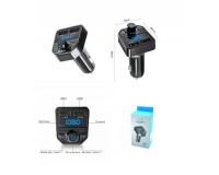 FM трансмиттер TDS X1 12В, USB/microSD, автомобильный, Bluetooth, пульт, коробка, цветной