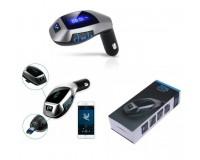 FM трансмиттер TDS X5 12В, USB/microSD, автомобильный, Bluetooth, пульт, коробка, цветной