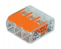 Клемма соединительная компактная 3-х проводная с рычажками SmartBuy (SBE-ccwcc-3)