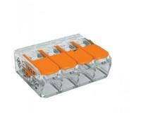 Клемма соединительная компактная 4-х проводная с рычажками SmartBuy (SBE-ccwcc-4)