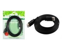 Кабель HDMI-HDMI Perfeo 2.0м ver.1.4b, плоский, пакет, черный (H1302)
