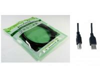 Кабель USB A штекер - USB B штекер Perfeo длина 5м, пакет, черный (U4104)