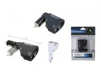 Переходник для прикуривателя OLESSON 1351 на 1 гнездо + 2 USB(1000mA/2100mA)