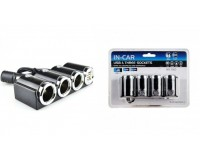 Переходник для прикуривателя OLESSON 1503 на 3 гнезда(120W) + 2 USB(5V/1000mA), на шнуре до 0, 6 м