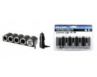 Переходник для прикуривателя OLESSON 1504 на 4 гнезда(120W) + 2 USB(5V/1000mA), на шнуре до 0, 6 м