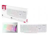 Клавиатура SmartBuy SBK-333U-WK USB White/Black 104 клавиши, с подсветкой