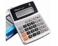 Калькулятор Kenko KK-800A настольный, 8 разрядный, размер 13х11 см, серебристый