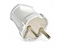 Сетевая вилка SmartBuy 10A 250В прямая без заземления, белая (SBE-10-P04-w)