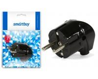 Сетевая вилка SmartBuy 16A 250В угловая с заземлением, черная (SBE-16-P02-b)