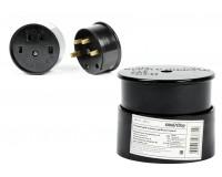 Разъём для плит SmartBuy 32A 380В 3P+PE (ОУ) карболитовый черный (SBE-IS1-380-C)