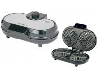 Вафельница First FA-5305-2 1000Вт., в форму сердца 10 шт. регулировка температуры, антипригарное покрытие, Black