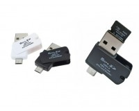 Card Reader Орбита OT-PCR01 (KS-602) OTG (USB, TF, microUSB) внешний